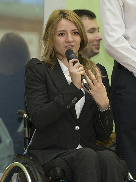 MOST was founded by a wheelchair student Anna Dragina and her classmates in 2015