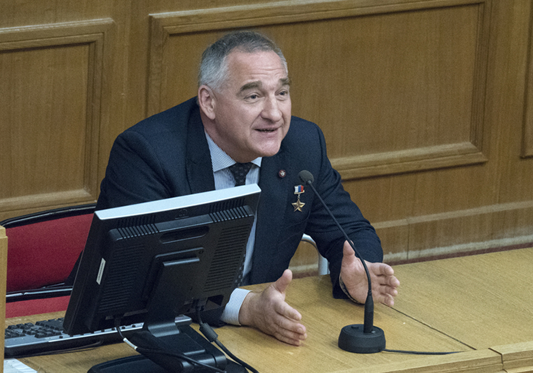 Академию посетил космонавт – Герой России Александр Скворцов