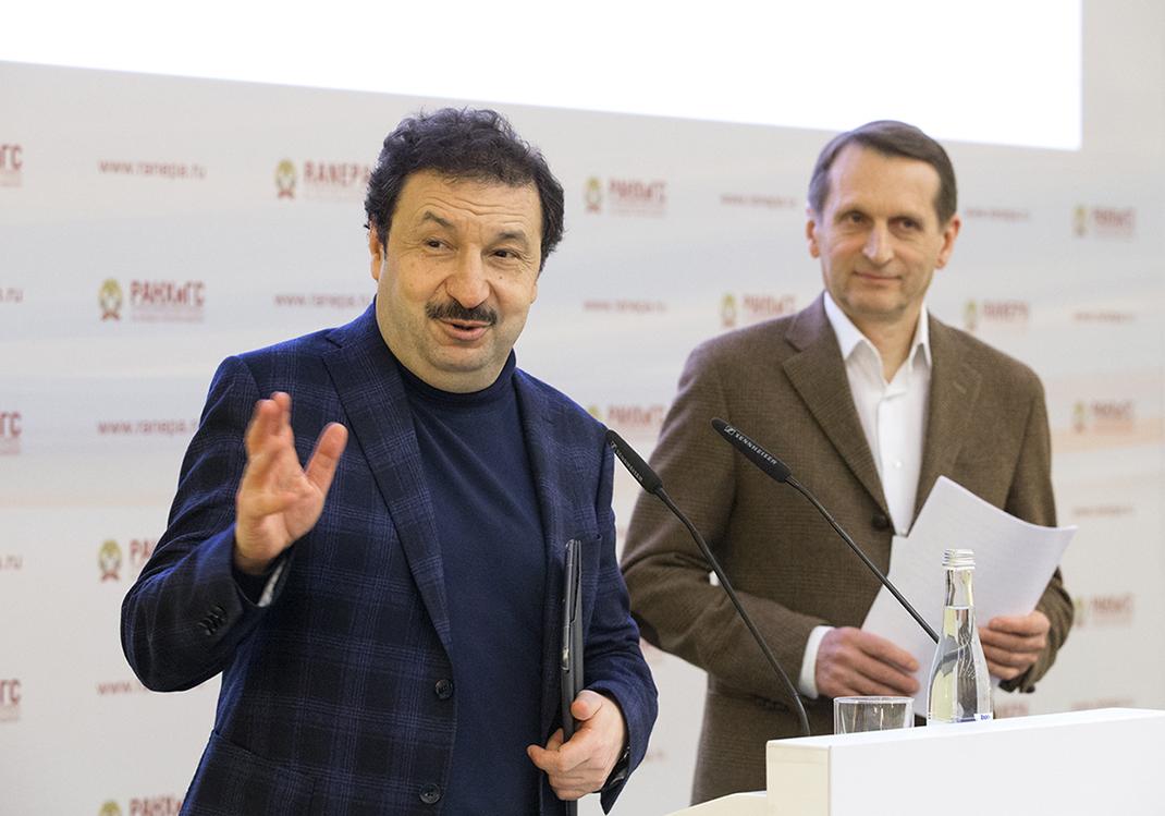 Сергей Нарышкин прочитал «Тотальный диктант» в РАНХиГС
