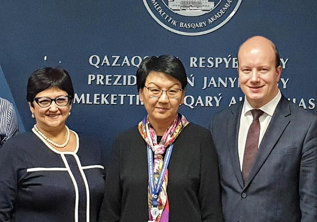 Академия развивает сотрудничество с Казахстаном
