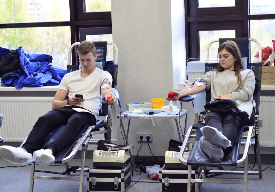 Студенты Академии вновь стали донорами крови