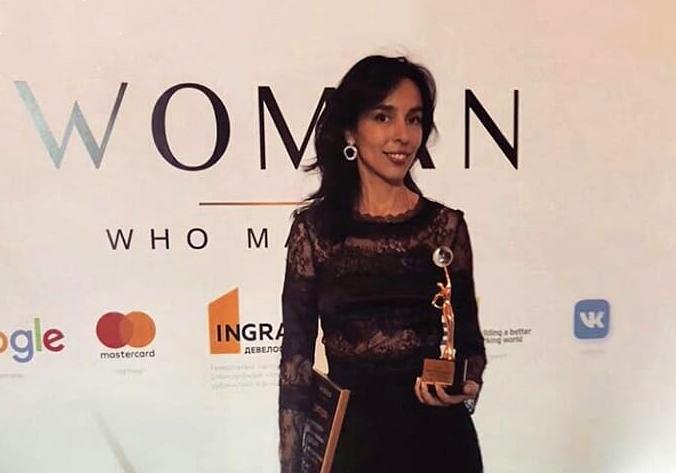 Софья Троценко получила награду Woman Who Matters
