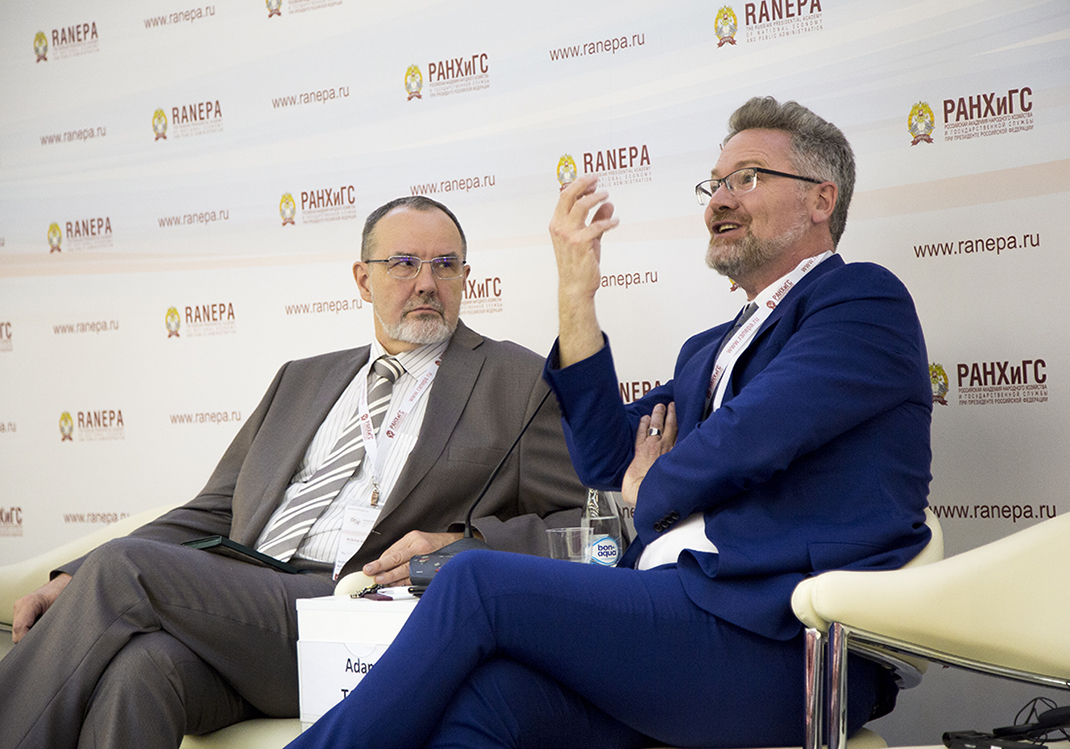На Гайдаровском форуме презентовали книги Вито Танци и Адама Туза